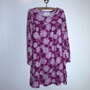 Hanna Andersson Purple Floral Print Dress 140/10